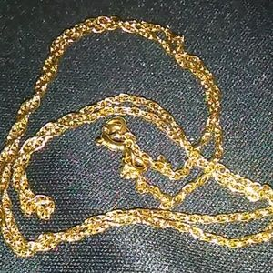 18 inch 925 gold color chain